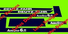 Deutz fahr agro star 6.11 autocollants/decals