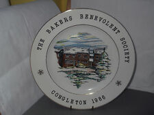 1986 DECORATIVE  PLATE CELEBRATE  OPENING OF CONGLETON VILLAS BY BAKERS SOCIETY