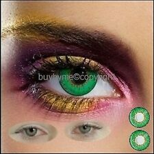 Contact Lens Green 82441 FASHION HALLOWEEN Amazing huge Choice 2 colored LENSES