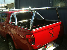 Tradesman rack / Ladder rack set - Mitsubishi Triton - Polished alloy