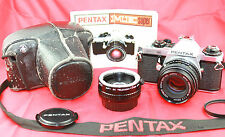 Pentax ME Super 35mm Classic SLR Film Camera. SMC Pentax-M 1:1.7 F=50mm Lens.