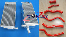 FOR HONDA CR125R CR125 1990-1997 91 92 93 94 95 96 97 Aluminum Radiator + Hose