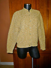 Vtg 60s 70s Rockabilly Milwaukee Knits Wool Dacron Knit Hippie Cardigan SWEATER