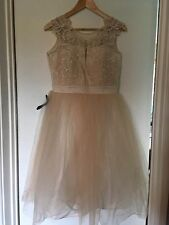 BNWT Lipsy VIP Embroidered Prom Dress Size 12