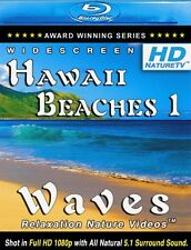 "#1 Relaxing Video ""HD HAWAII BEACHES - 1 / WAVES"" BLU-RAY w/ Nature Ocean Sounds"