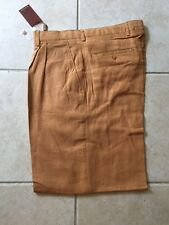 NWT  PLEATED 100% LINEN WIDE LEG PANTS MENS PRESTIGE GOLD LABEL SIZE 42