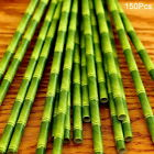 150Pcs Green Bamboo Style Paper Straws Retro Drinking Eco Friendly Kids Party#GH