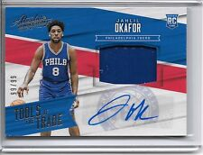 2015-16 Panini Absolute JAHLIL OKAFOR TOOLS OF THE TRADE AUTO PATCH RC #99/99!