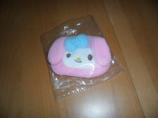 Sanrio My Melody pink soft fluffy coin pouch purse wallet w zip top   4 by 5.5 ""