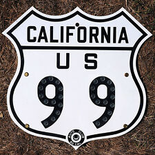 California ACSC glass reflector US route 99 highway road sign auto club AAA
