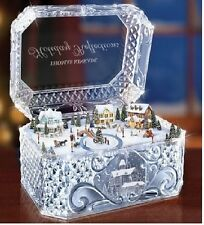THOMAS KINKADE HOLIDAY REFLECTION CRYSTAL MUSIC BOX