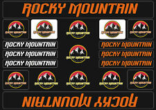 Rocky Mountain  Bicycle Frame Decals Stickers Graphic Adhesive Set Vinyl Orange