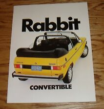 Original 1982 Volkswagen VW Rabbit Convertible Sales Brochure 82