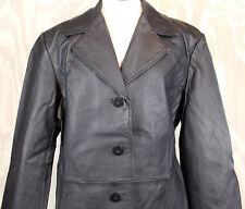 Worthington Black Leather Casual Women's Coat Jacket Size X Large XL