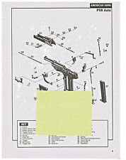 AMERICAN ARMS P97, PK22  AUTOMATIC  PISTOL  EXPLODED VIEWS AND PARTS LIST 1992