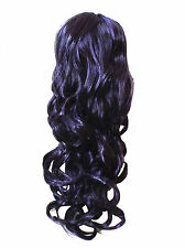 New Long Deep Purple Wig Gothic Cosplay Witch Vampire Cosplay Fancy Dress