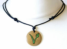 Vegan Vegetarian Symbol Necklace Pendant Vegan Pride Gift Men's Ladies Jewellery