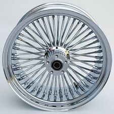 "FAT SPOKE 18"" 300mm REAR WHEEL CHROME 18 X 10.5 CUSTOM SOFTAIL RIGID CHOPPER"