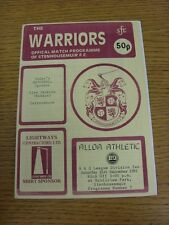 21/09/1991 Stenhousemuir v Alloa Athletic  (the item is in good/very good condit