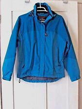 Women's LL Bean Petite Small Hooded Insulated Winter Jacket Parka Aqua