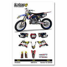 2002-2014 YAMAHA YZ 125-250 Restyle UFO Rockstar Dirt Bike Graphics kit Decal