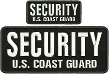SECURITY U.S. COAST GUARD EMBROIDERY PATCH 4X10 AND 2X5 hook on back