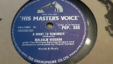 MALCOLM VAUGHAN A NIGHT TO REMEMBER & MORE THAN EVER HMV POP538