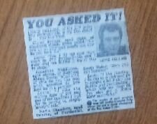 Lewis Collins Interview Questions from Fans/Answers from Lewis Newspaper Article