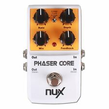 NUX Phaser Core Phase Shifter Modulation Stomp Effect Pedal Tone Lock Preset