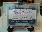 BABE RUTH LOU GEHRIG 2015 BRONX BOMBERS DUAL CUT AUTO PROTOTYPE DISPLAY PIECE