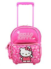"Hello Kitty Rolling Backpack 12"" Travel Small Kids School Toddler Wheeled Bag"