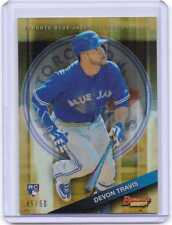 Devon Travis 2015 Bowman's Best GOLD REFRACTOR  Ser#d 45/50  Toronto Blue Jays