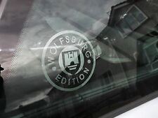 VW WOLFSBURG EDITION etched window stickers X2