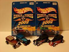 Hot Wheels Lot Of 6 Midnight Otto 2 Carded And 4 Loose, 4 With Real Riders, Read