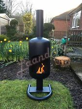 Large 19kg Gas Bottle Log Wood Burner Chimenea with a stand Outdoor Patio Heater