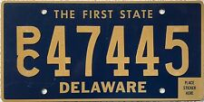 FREE UK POSTAGE Delaware People Carrier USA License Number Plate PC 47445