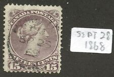 Canada 1868 Large Queen 15c grey violet #29 - Sept 28 1868 CDS