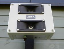 ADJUSTABLE ULTRASONIC REPELLER, WALL MOUNTABLE & WEATHERPROOF - BIRD REPELLER.