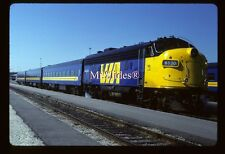 Original Slide VIA FP9A 6530 W/3 Car Passenger Train In 1988 At Mimico ON