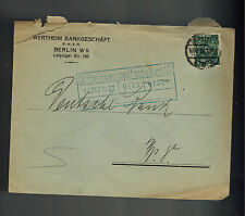 1922 Berlin Germany Inflation cover Deutsche Bank Wertheim Bankgeschaft
