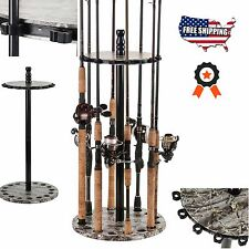 Fishing Rods Racks Standing Organizer Holder Floor Round Garage Storage Pole Rod