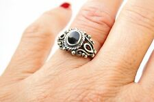 Authentic Vintage Brighton Sterling Silver & Onyx Ring size 5