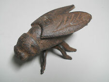 3 Cast Iron Garden Bugs LARGE  HORSE FLY Flower Insects Plants Statue FLIES