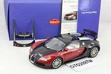 AUTOart 1:18 Bugatti EB 16.4 Veyron Production Car(Blackl/Red Metallic) #70906