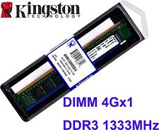 4GB (1 X 4GB) DDR3-1333 (PC3-10600) CL9 240-PIN DIMM Kingston Memory KVR13N9S8/4