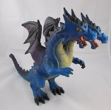"Toys R Us Two Headed Dragon Toy 9"" Tall Rubber Maidenhead"