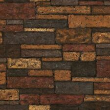41394 Taupe Bristol Taupe Brick Texture Wallpaper