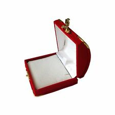 Necklace Pendent Jewelry Gift organizer Box Storage Christmas Wedding Velvet