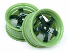 HPI Von Gitting Jr Mustang S1 Wheels Green 26mm 1/10 Drift On Road RS4 E10