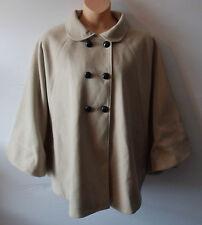 ANN HARVEY wool cape jacket Size 2 UK 22 24 US 20 22 EU 50 52 was £90 €144